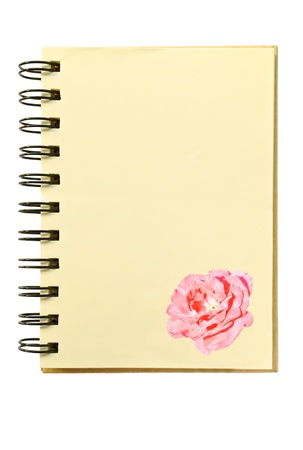 rose texture on blank notebook Stock Photo - 13322361