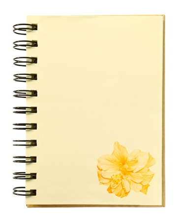 Hibiscus texture on blank notebook photo
