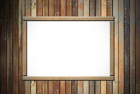 Empty wood advertisement Stock Photo - 13322371