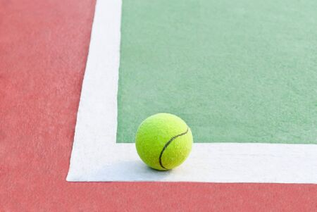 Tennis Balls shot on a outdoor tennis court Stock Photo - 13485847