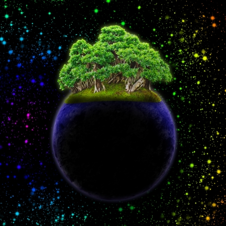 abstract a new world in outer space Stock Photo - 13733361