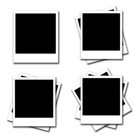 Blank photo frames on white background Stock Photo - 13768797