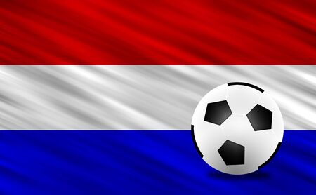 Soccer ball and Netherlands flag photo