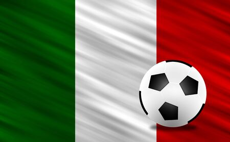 Soccer ball and Italy flag