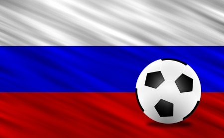 Soccer ball and Russia flag Stock Photo - 13794171
