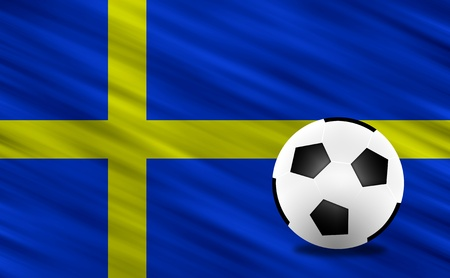 Soccer ball and Sweden flag photo