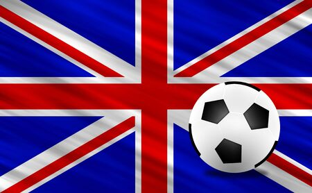 Soccer ball and  United Kingdom  flag Stock Photo - 13794279