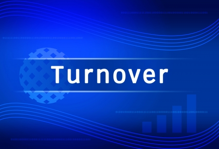 turnover: business background Turnover Stock Photo