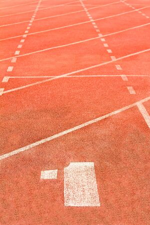 Running track number 1 Stock Photo - 15061773