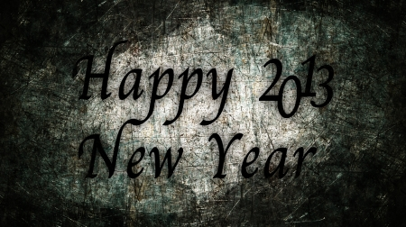 Happy New Year 2013 text with metal grunge Stock Photo - 16517113