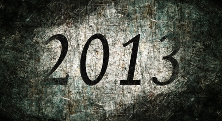 2013 text with metal grunge Stock Photo - 16517110