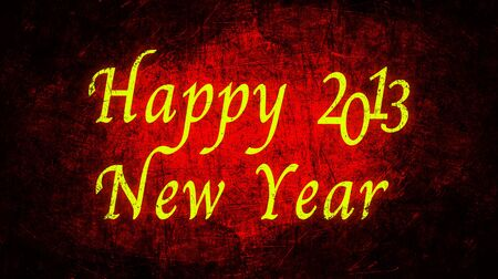 Happy New Year 2013 text with red metal grunge Stock Photo - 16517109