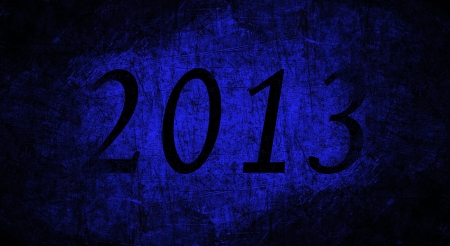 2013 text with blue grunge texture Stock Photo - 16517116