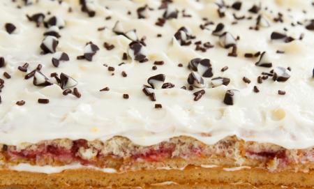 close up of white chocolate cake Stock Photo - 16517107