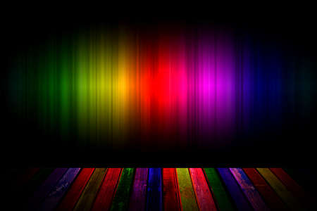 rainbow and wood background Stock Photo - 16577052