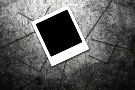 photo frame on grunge  metal texture background  Stock Photo - 17102736
