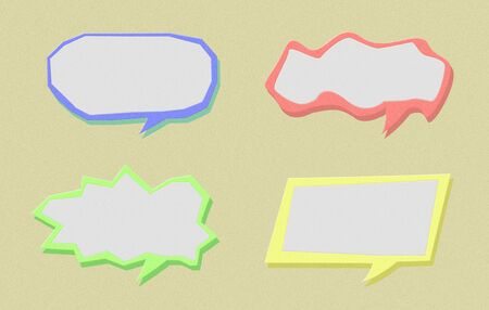 Set of paper speech bubble Stock Photo - 17178424