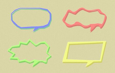 Set of paper speech bubble Stock Photo - 17178420
