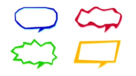 Set of speech bubble Stock Photo - 17191172