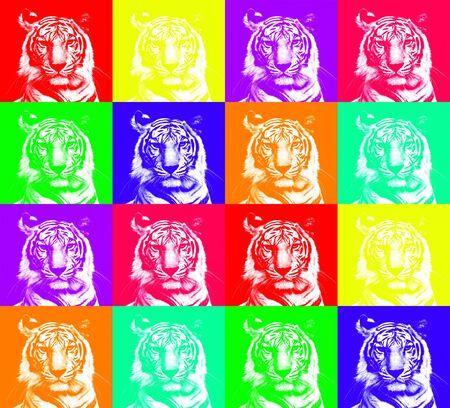 mixer of head tiger Stock Photo - 17455459