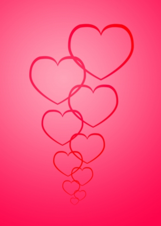 line heart on pink background Stock Photo - 17455460