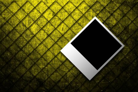photo frame on abstract grunge of  gold metal texture background photo