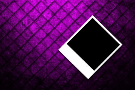 purple metal: photo frame on abstract grunge of  purple metal texture background