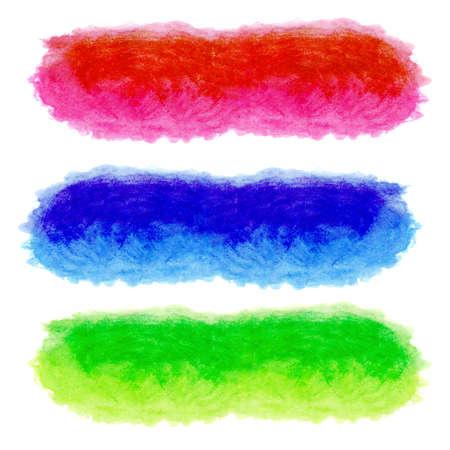 set van aquarel groen rood en blauw