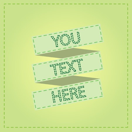 green ribbon vintage design Vector