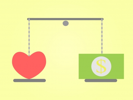 love or money Vector