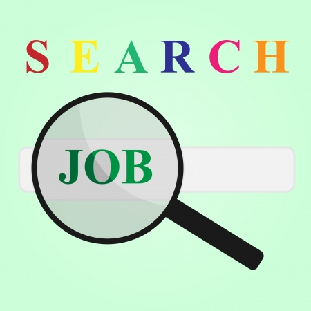 finding: finding my job in search engine Illustration
