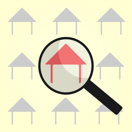 finding my home for buy or rent Stock Vector - 20750438