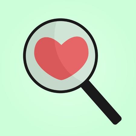 finding my heart Vector