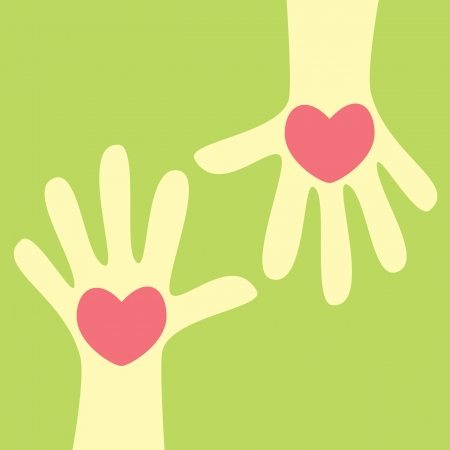hand, geven het hart Stock Illustratie