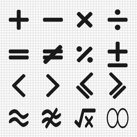 math iconen ontwerp set