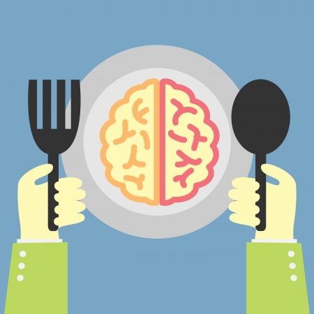 eating concept brain food Vector