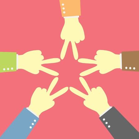 mixer hand star team shape Vector