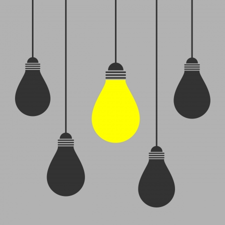 solutions icon: lighting bulb Illustration