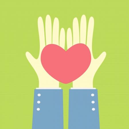 hand giving my heart