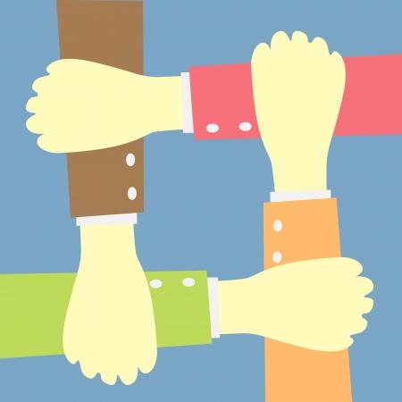 hands concept teamwork idea