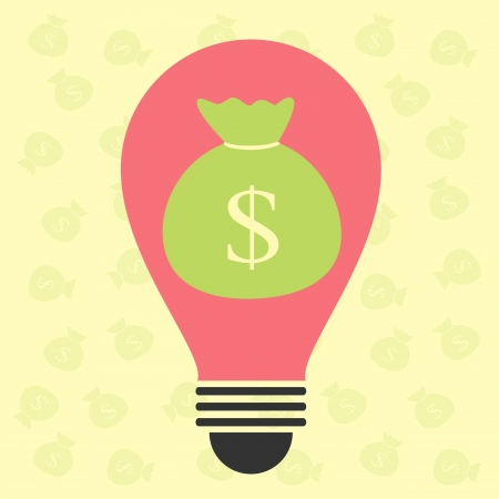 bulb idea for make money Vector