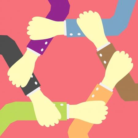 manos unidas: manos concepto de trabajo en equipo idea