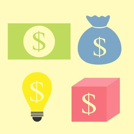 set of money idea Stock Vector - 20949476