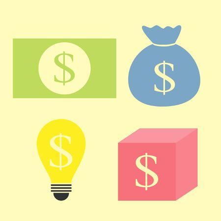 set of money idea Stock Vector - 20949476