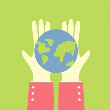 earth in your hand Vector