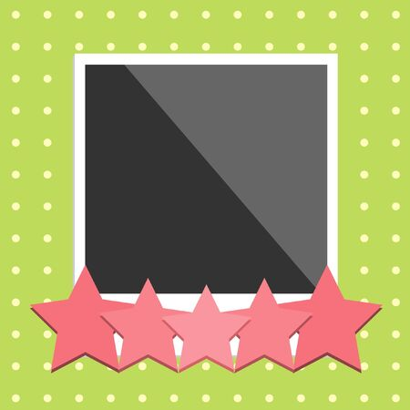 photoframe with star and dot background Vector