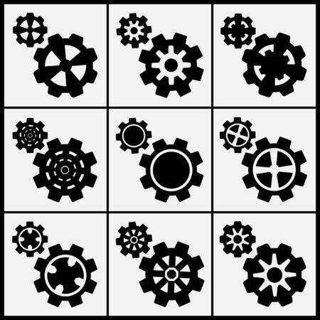 set of gear icon Vector
