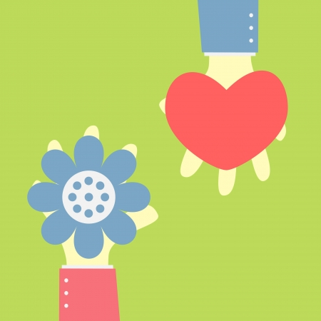 give flower for your love Vector