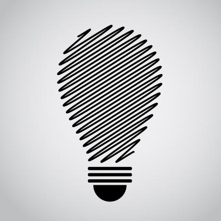 アイデア電球概要  イラスト・ベクター素材