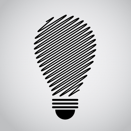 conceptual bulb: idea bulb outline